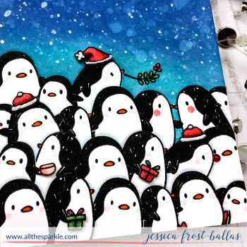 Challenge Me a Christmas Card with Michelle Lupton: Penguins!