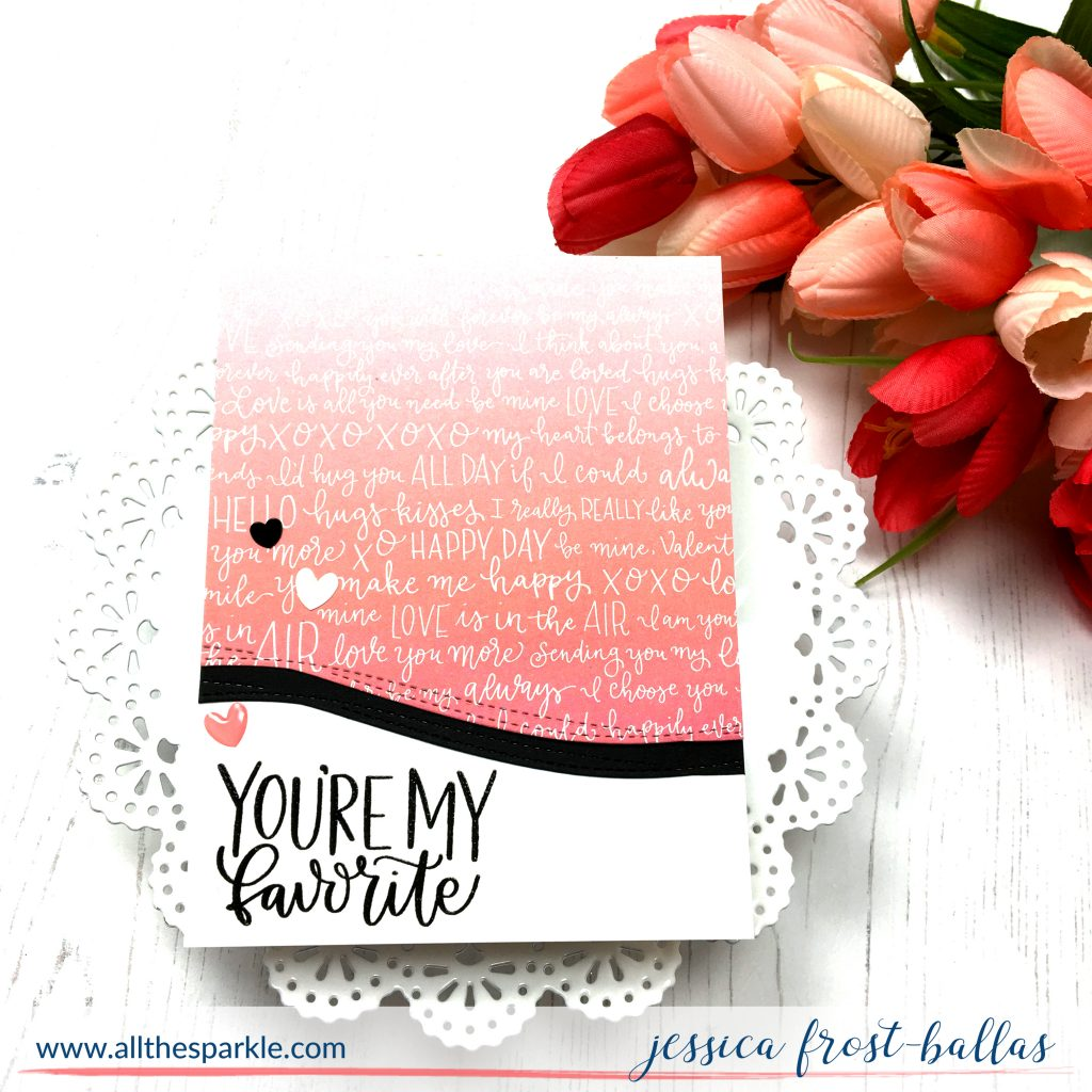 Simon Says Stamp January 2018 Card Kit My Favorite Person by Jessica Frost-Ballas