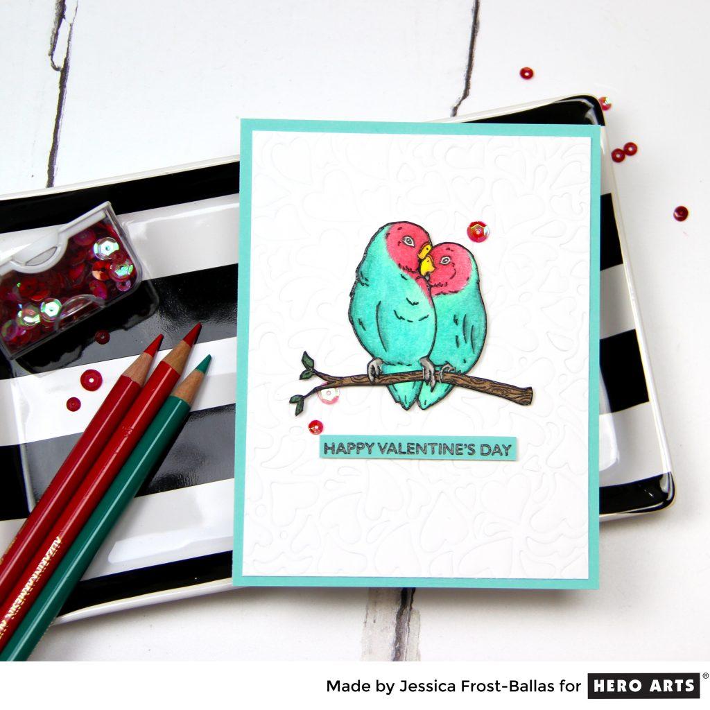 Happy Valentine's Day by Jessica Frost-Ballas for Hero Arts