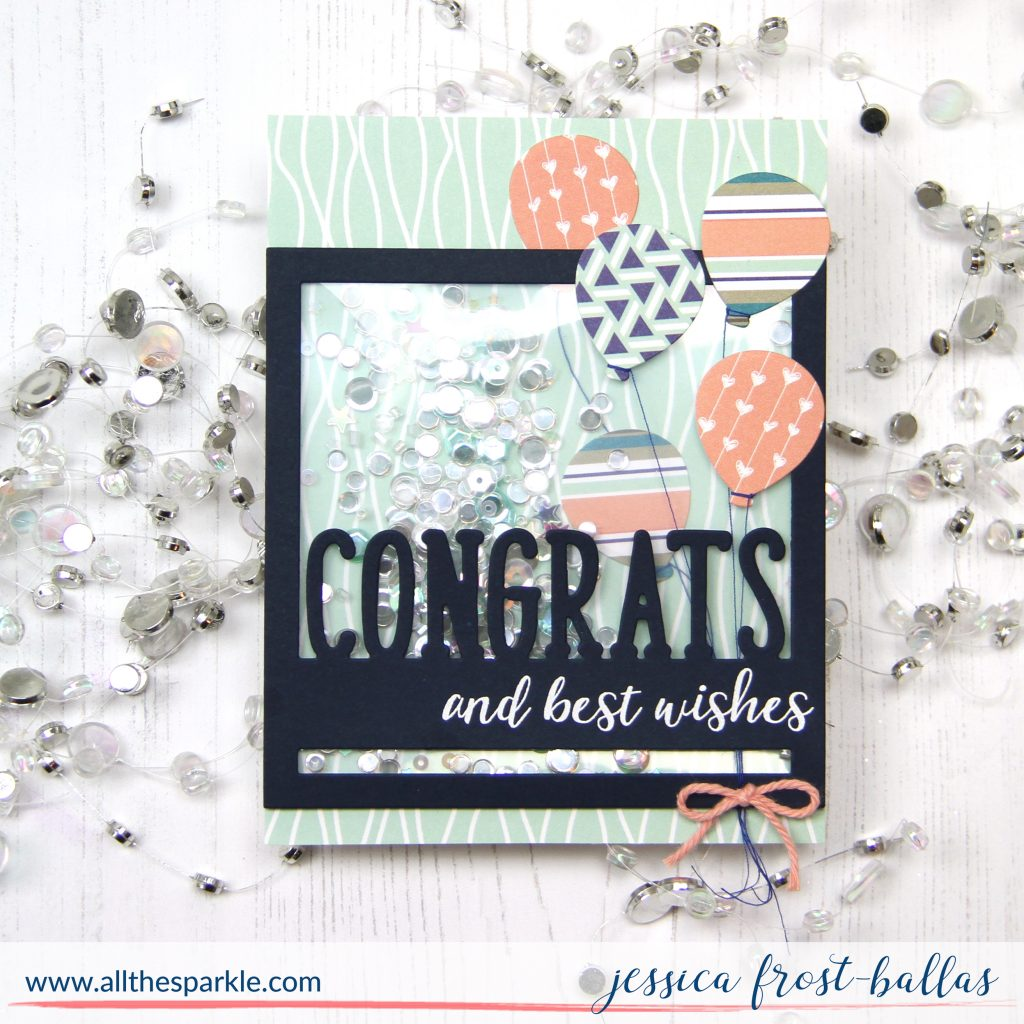 Congrats and Best Wishes for Reverse Confetti by Jessica Frost-Ballas
