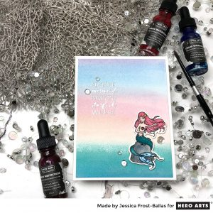 Sending Mermaid Kisses and Starfish Wishes by Jessica Frost-Ballas for Hero Arts