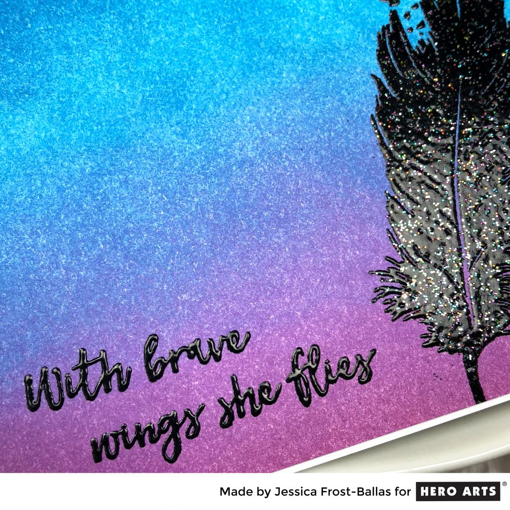 With Brave Wings She Flies by Jessica Frost-Ballas for Hero Arts