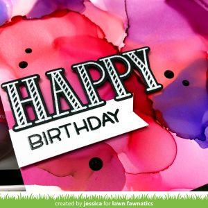 Happy Birthday for Lawn Fawnatics by Jessica Frost-Ballas