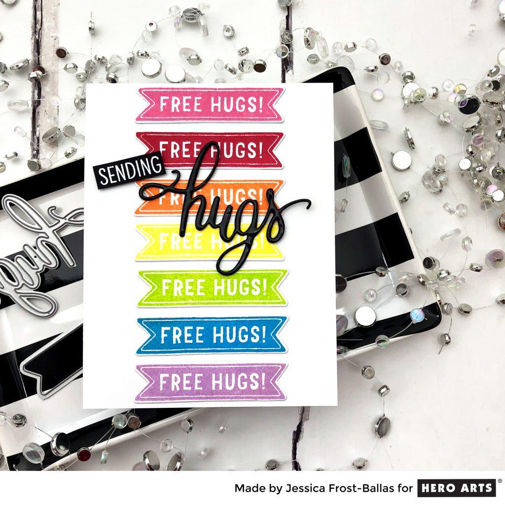 Sending Hugs by Jessica Frost-Ballas for Hero Arts