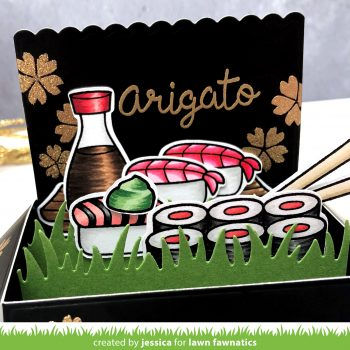 Arigato by Jessica Frost-Ballas for Lawn Fawnatics
