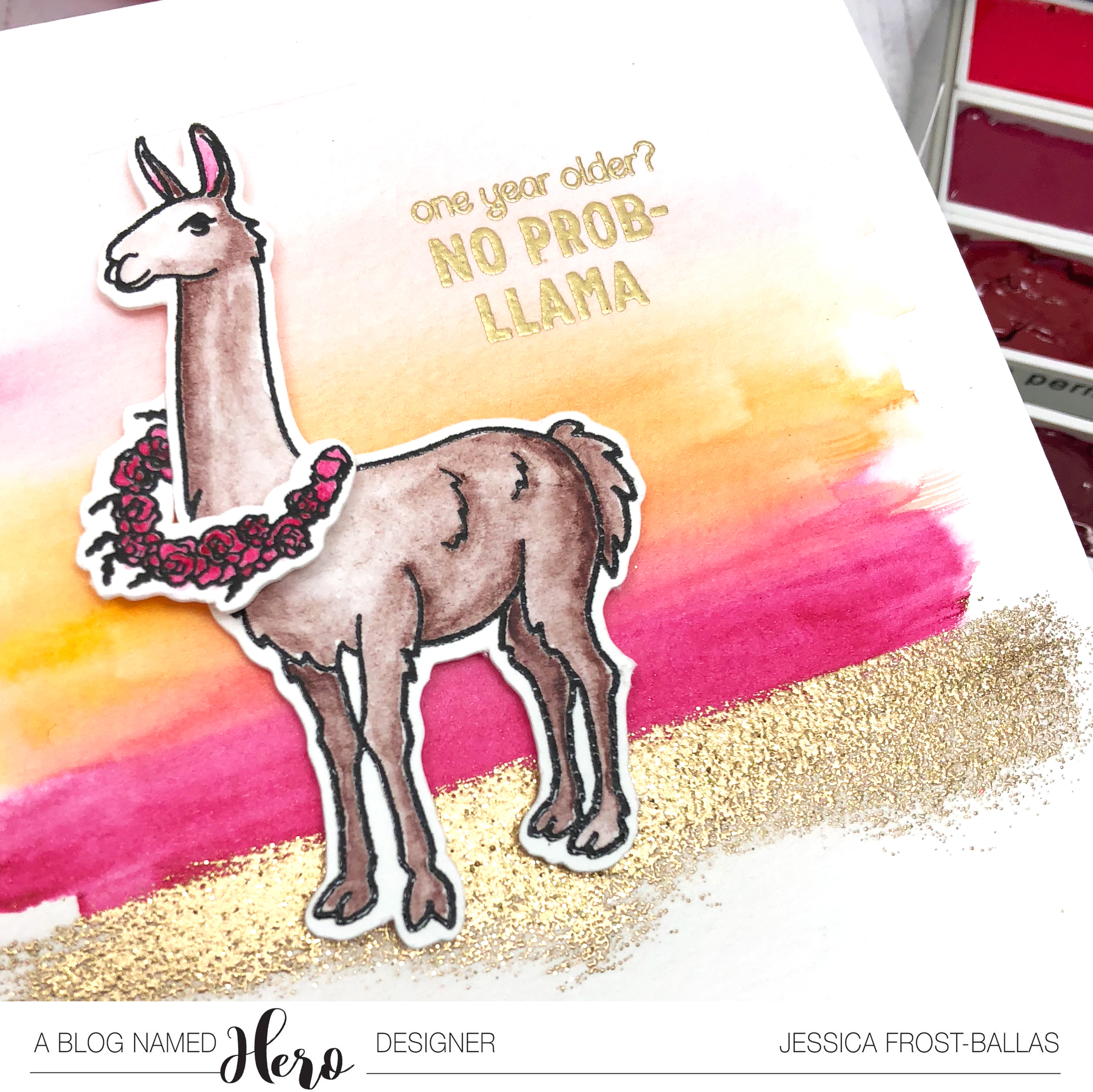 No Prob-Llama by Jessica Frost-Ballas for A Blog Named Hero