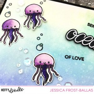 Sending You Oceans of Love by Jessica Frost-Ballas for Heffy Doodle
