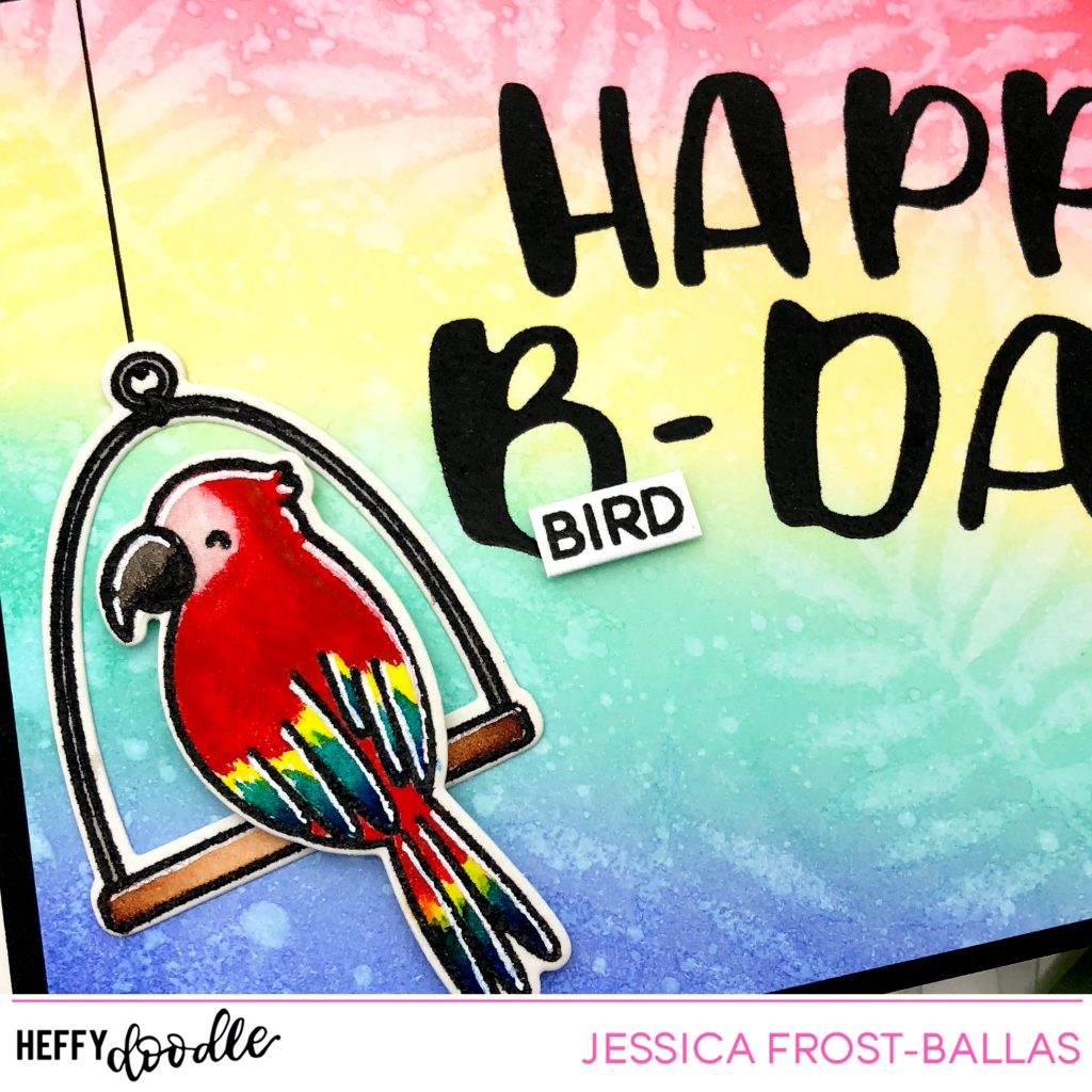 Happy Bird-Day by Jessica Frost-Ballas for Heffy Doodle
