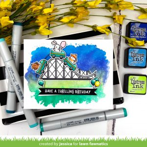 Have a Thrilling Birthday by Jessica Frost-Ballas for Lawn Fawnatics