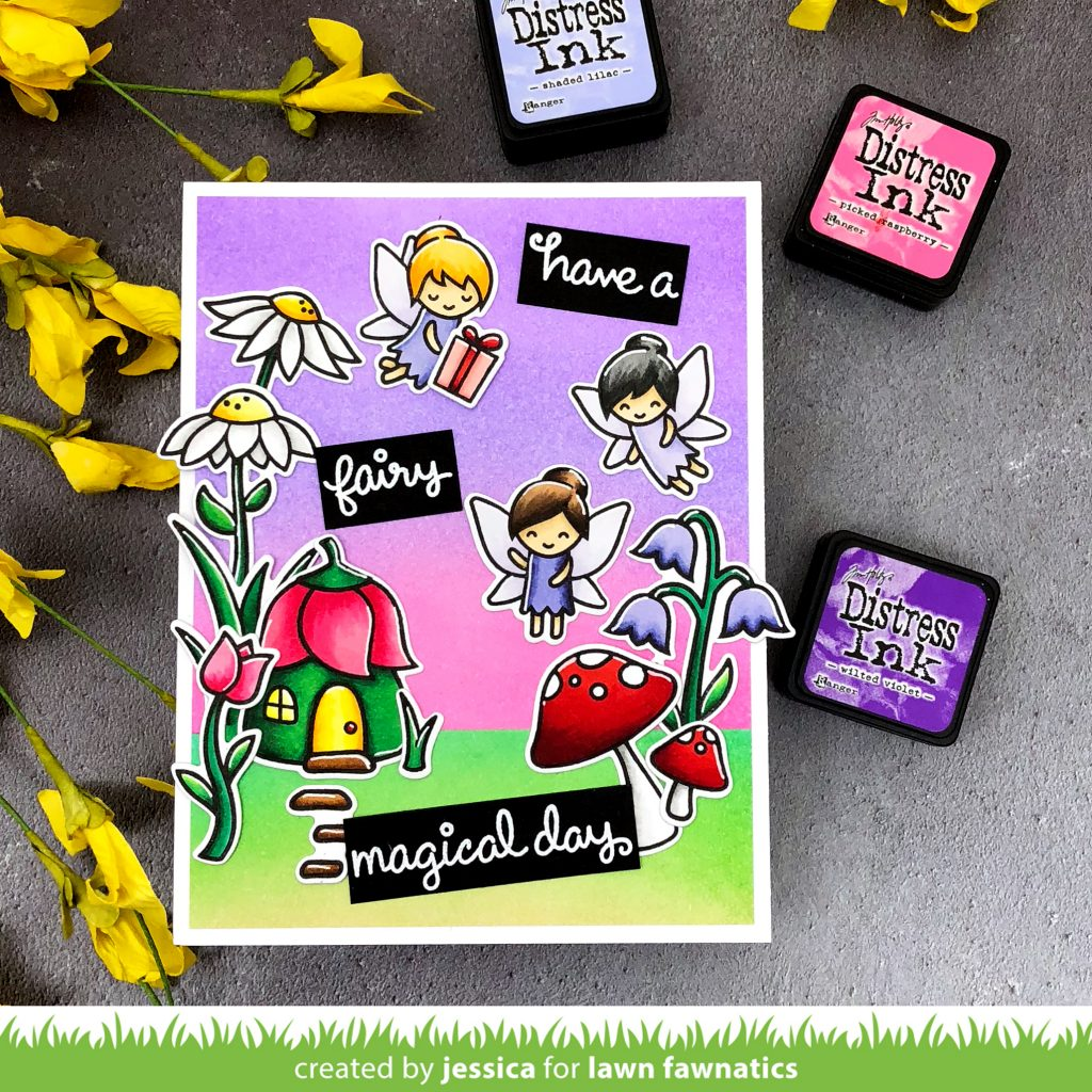 Have a Fairy Magical Day by Jessica Frost-Ballas for Lawn Fawnatics