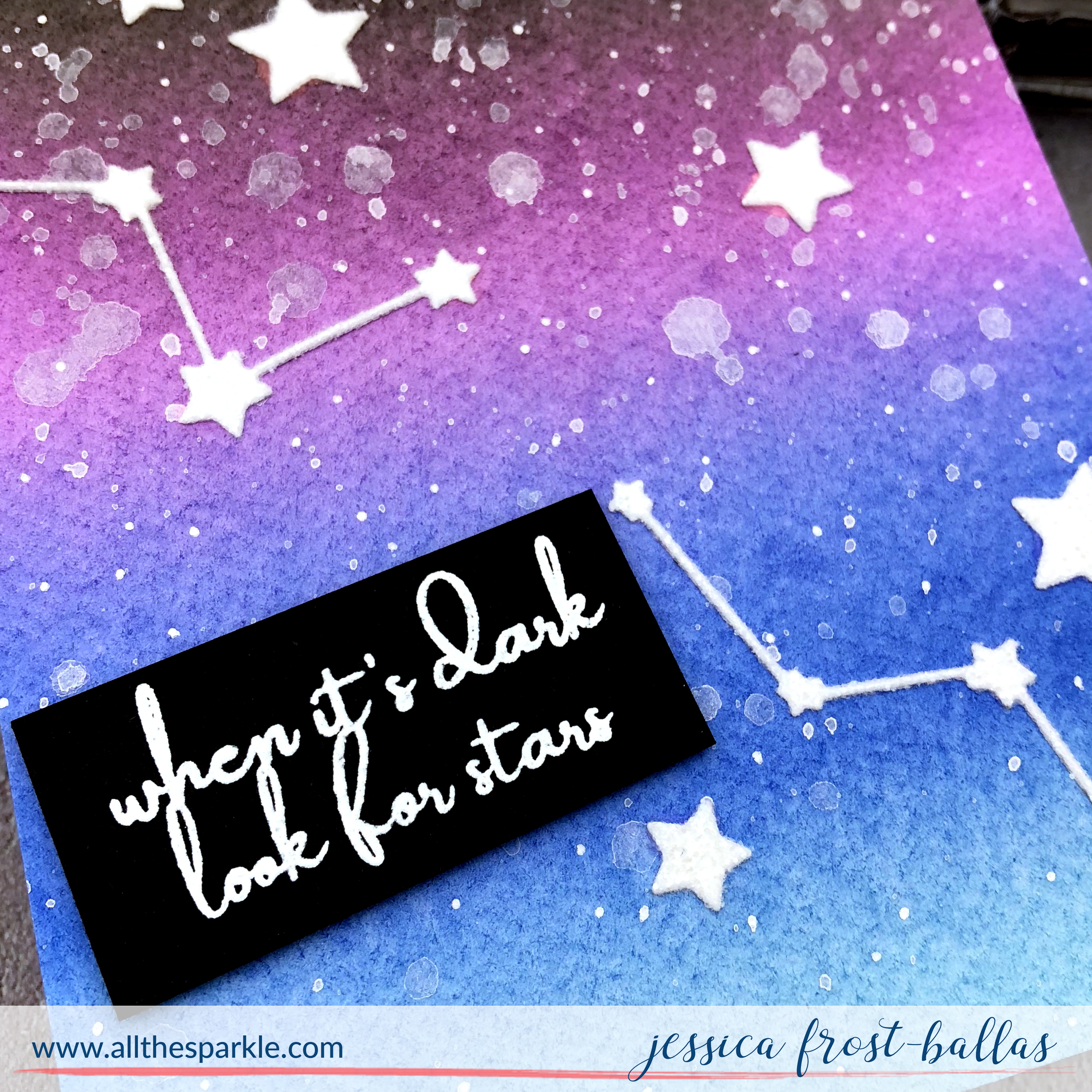 When It's Dark Look for Stars by Jessica Frost-Ballas for Pinkfresh Studio