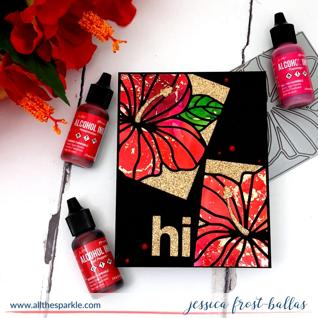 Hibiscus Frame Die by Jessica Frost-Ballas for Simon Says Stamp
