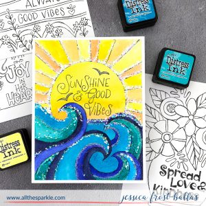 Good Vibes Watercolor Cards by Jessica Frost-Ballas for Simon Says Stamp