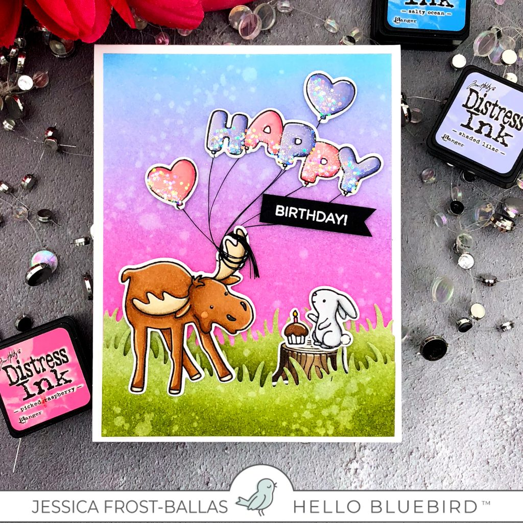 Happy Birthday by Jessica Frost-Ballas for Hello Bluebird