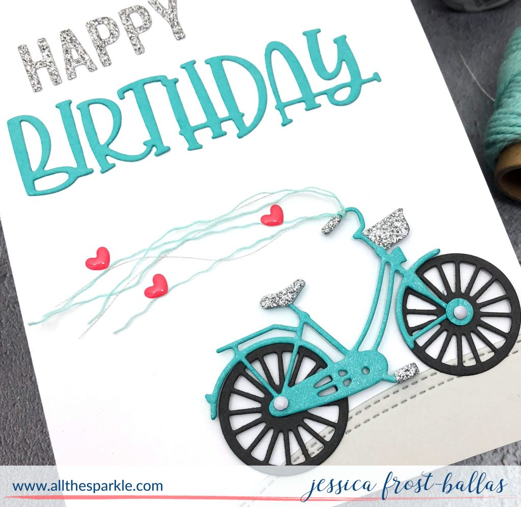 Happy Birthday Bike by Jessica Frost-Ballas for Simon Says Stamp