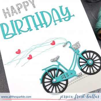 Birthday bike and a no-stamping card!