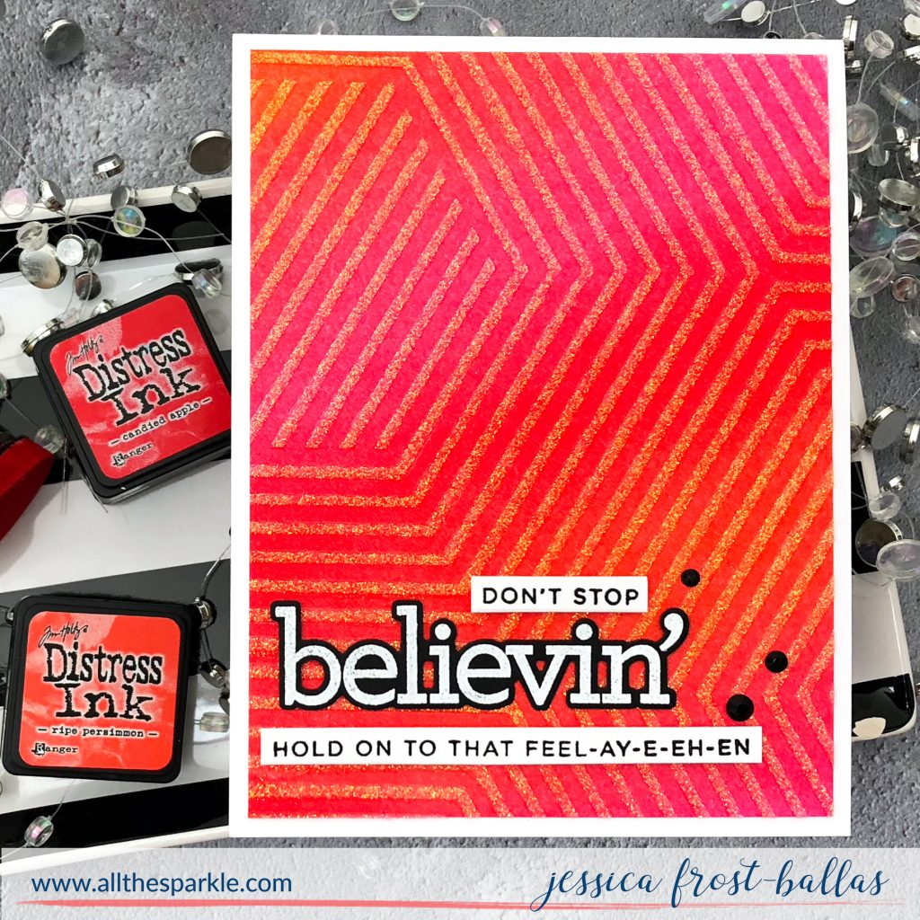 Don't Stop Believin' by Jessica Frost-Ballas for Simon Says Stamp