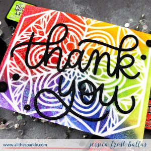 Thank You by Jessica Frost-Ballas for Simon Says Stamp