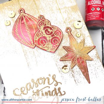 Alcohol Inked and Embossed Ornate Ornaments STAMPtember Day 27 (+VIDEO!)