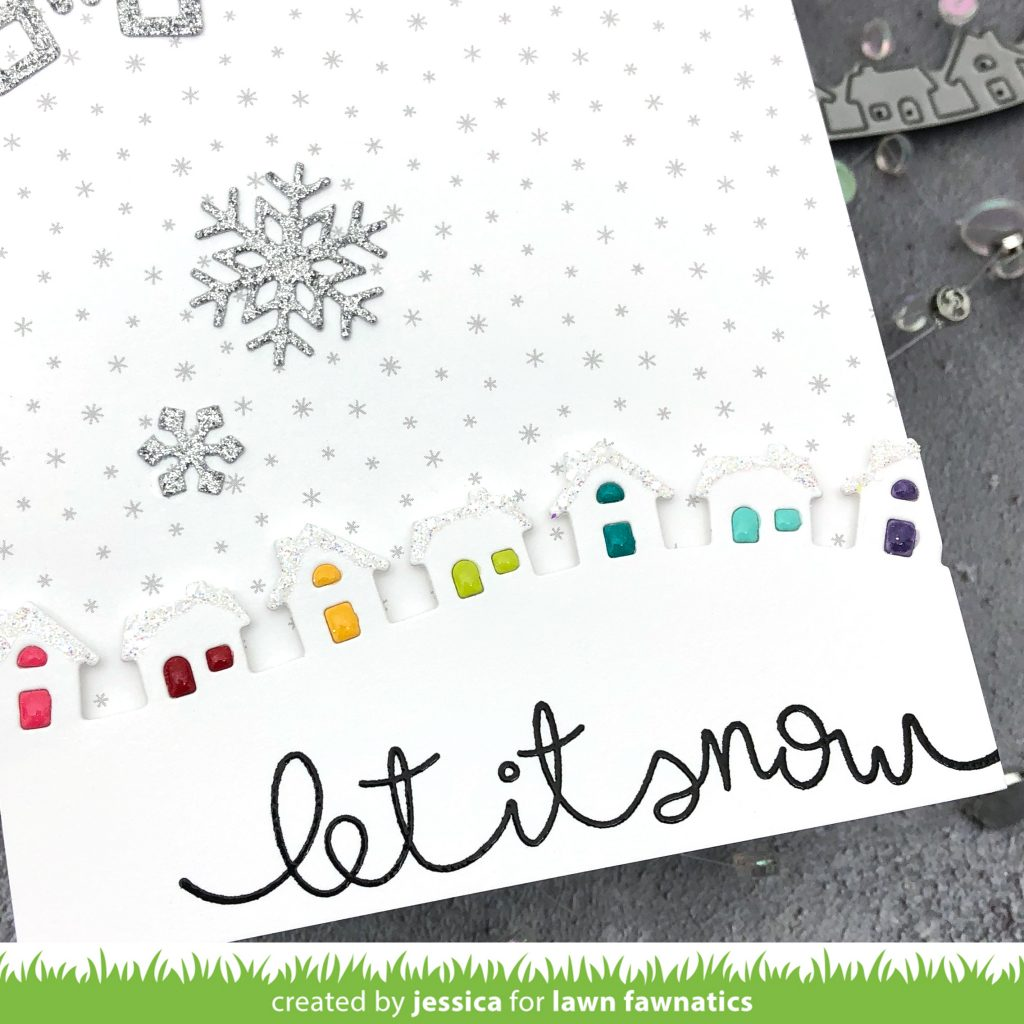 Let it Snow by Jessica Frost-Ballas for Lawn Fawnatics