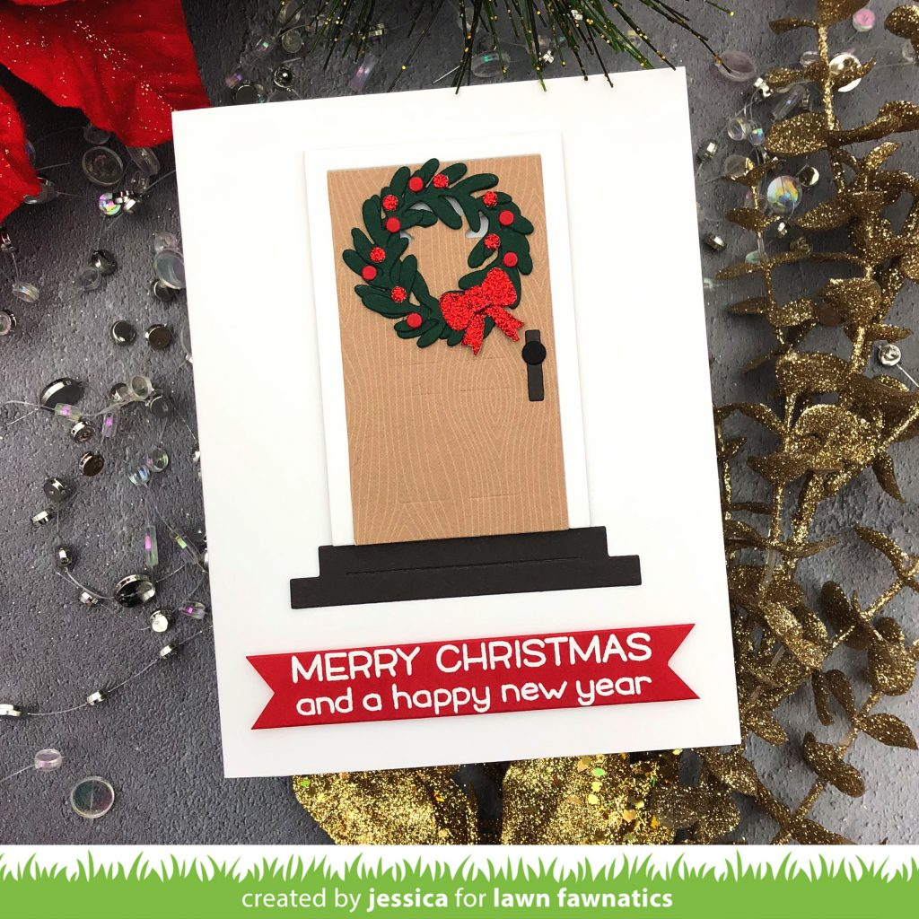 Merry Christmas Lawn Fawn Light Up Shadow Box Card by Jessica Frost-Ballas for Lawn Fawnatics