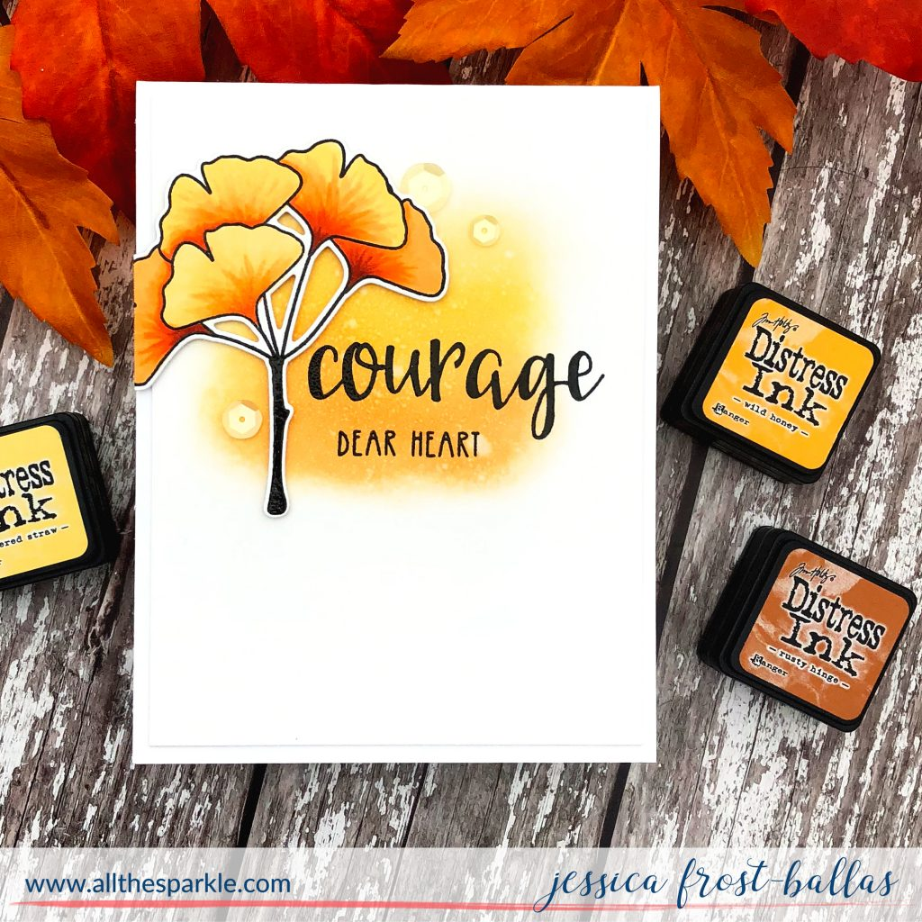 Courage Dear Heart by Jessica Frost-Ballas with Neat and Tangled