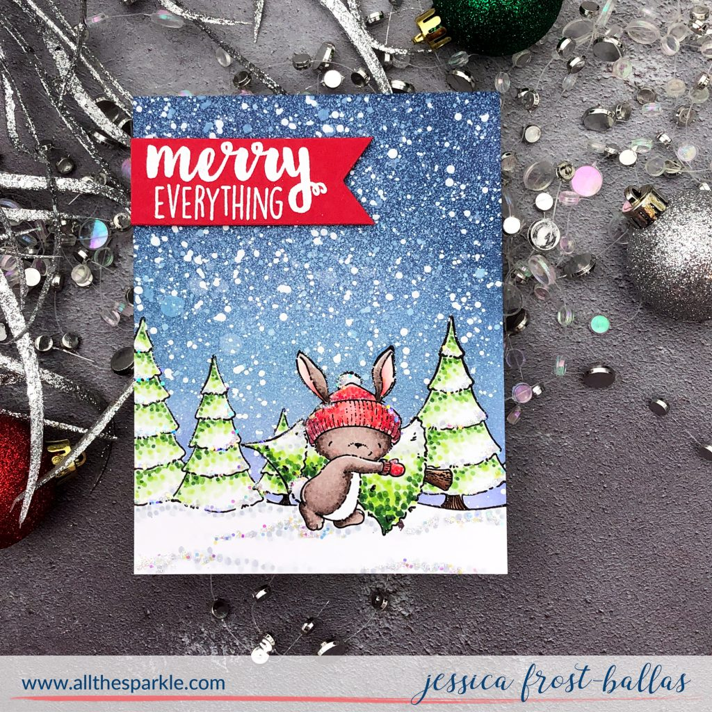 Merry Christmas by Jessica Frost-Ballas for Purple Onion Designs