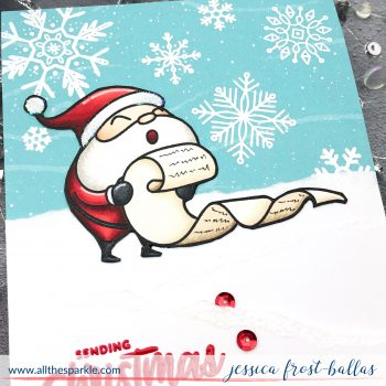 Sending Christmas Cheer by Jessica Frost-Ballas for Simon Says Stamp