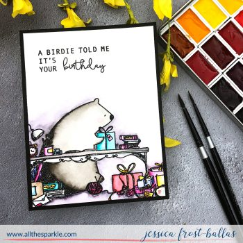 A Birdie by Jessica Frost-Ballas for Waffleflower Stamps