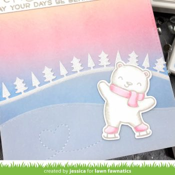 Happy Holidays by Jessica Frost-Ballas for Lawn Fawnatics