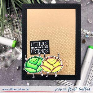 Lettuce Always Be Friends by Jessica Frost-Ballas for Waffleflower