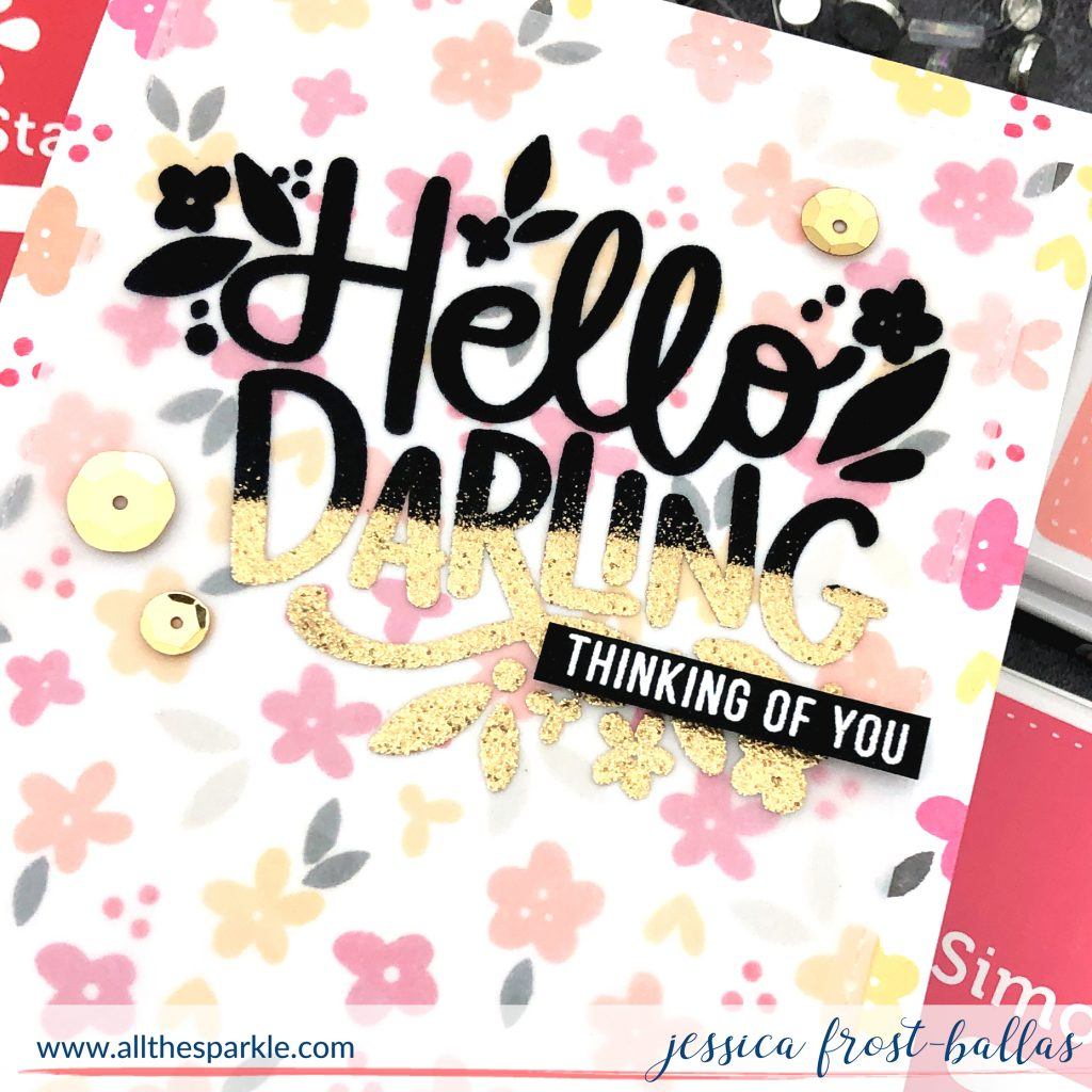 Hello Darling by Jessica Frost-Ballas for Simon Says Stamp