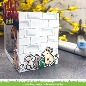 Ratatouille Shadow Box Card by Jessica Frost-Ballas for Lawn Fawnatics