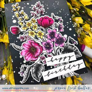 Happy Birthday by Jessica Frost-Ballas for Waffleflower