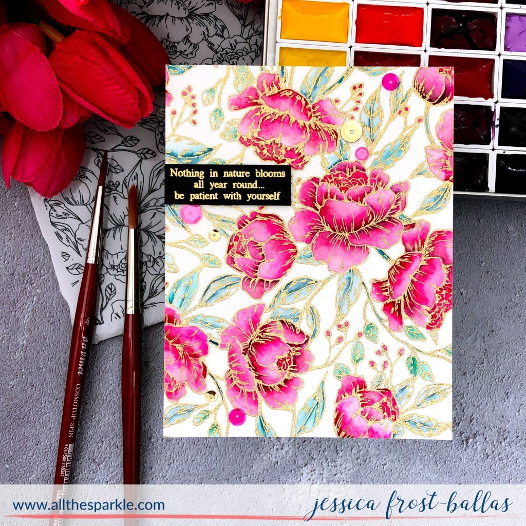 Pretty Peonies by Jessica Frost-Ballas for Simon Says Stamp