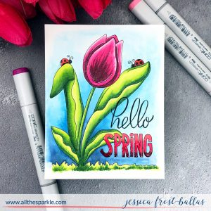 Hello Spring by Jessica Frost-Ballas for Simon Says Stamp