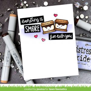 Everything is S'More Fun with You by Jessica Frost-Ballas for Lawn Fawnatics