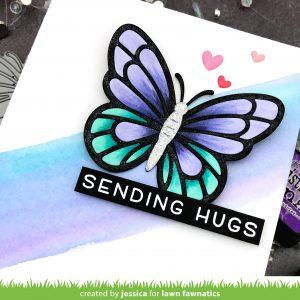 Sending Hugs by Jessica Frost-Ballas for Lawn Fawnatics