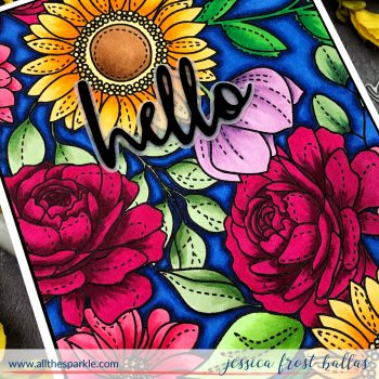 Hello by Jessica Frost-Ballas for Simon Says Stamp