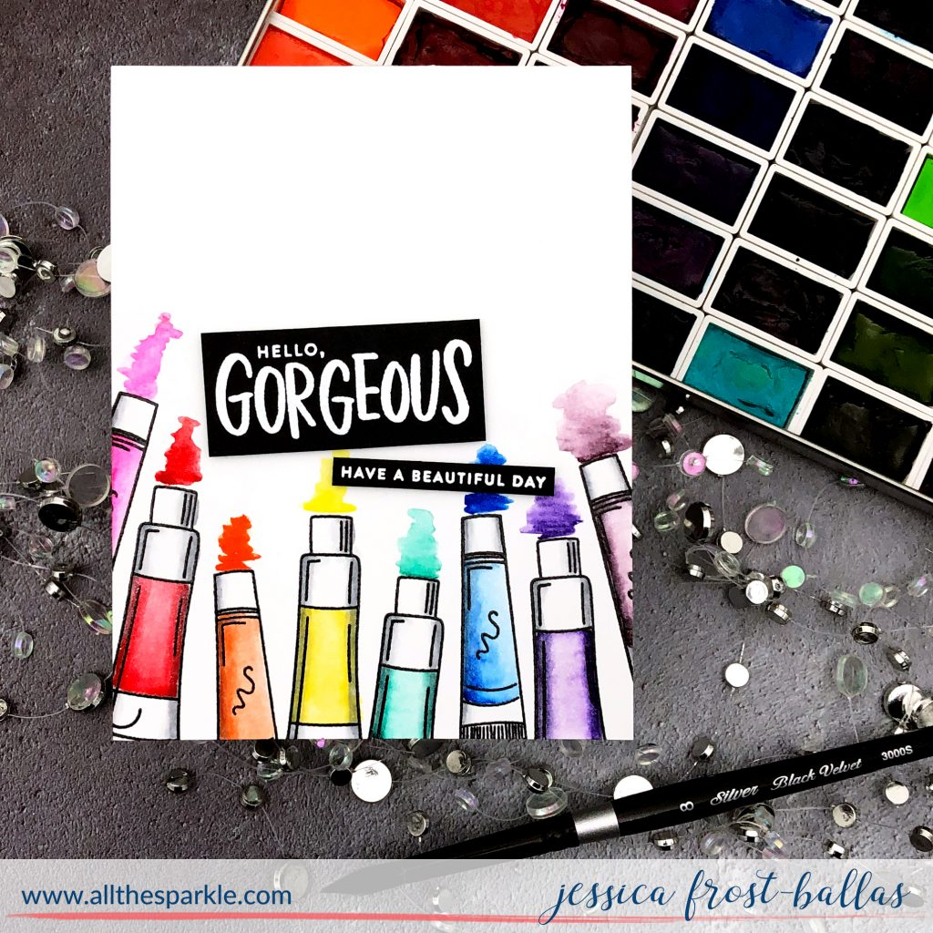 Hello Gorgeous by Jessica Frost-Ballas for Simon Says Stamp