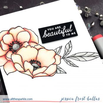 You are Beautiful by Jessica Frost-Ballas for Simon Says Stamp