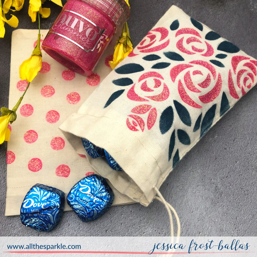 Stenciled Treat Bags by Jessica Frost-Ballas for Simon Says Stamp
