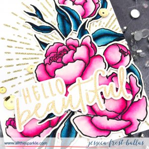 Hello Beautiful by Jessica Frost-Ballas for Honeybee Stamps