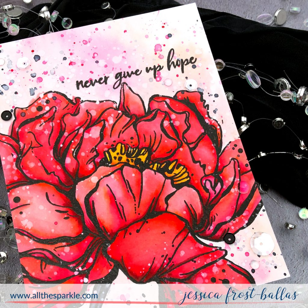 Botan Peony by Jessica Frost-Ballas for Picket Fence Studios