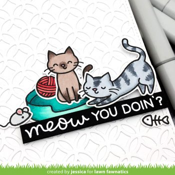 Meow You Doin' by Jessica Frost-Ballas for Lawn Fawnatics