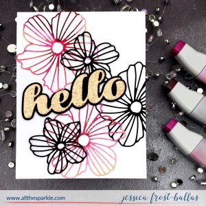 Alcohol Inks and Die-Cutting by Jessica Frost-Ballas for Memory Box