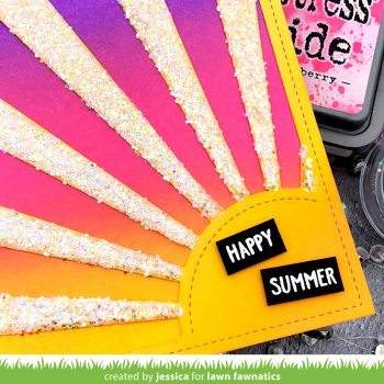 Happy Summer by Jessica Frost-Ballas for Lawn Fawnatics
