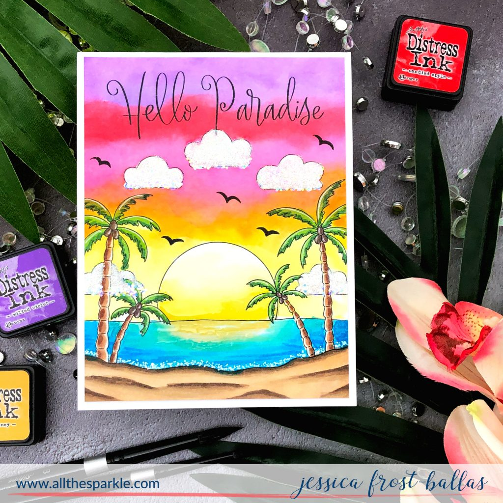 Hello Paradise by Jessica Frost-Ballas for Simon Says Stamp