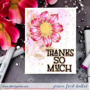 Thanks So Much by Jessica Frost-Ballas for The Stamp Market