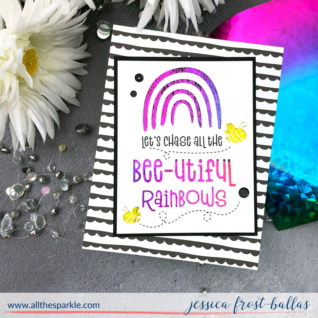 Rainbow Foiled Card by Jessica Frost-Ballas for Simon Says Stamp